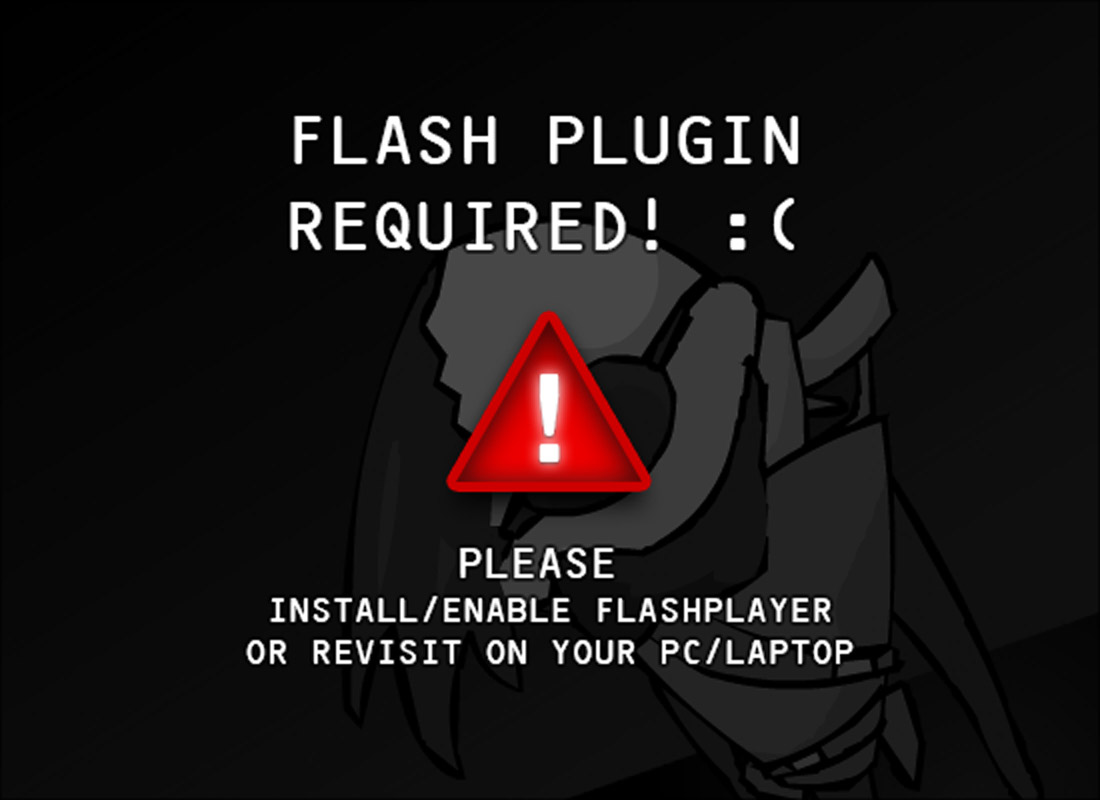 Could not load flash content :(